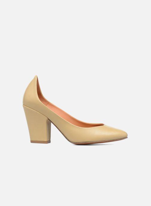 High heels BY FAR Niki Pump Beige back view