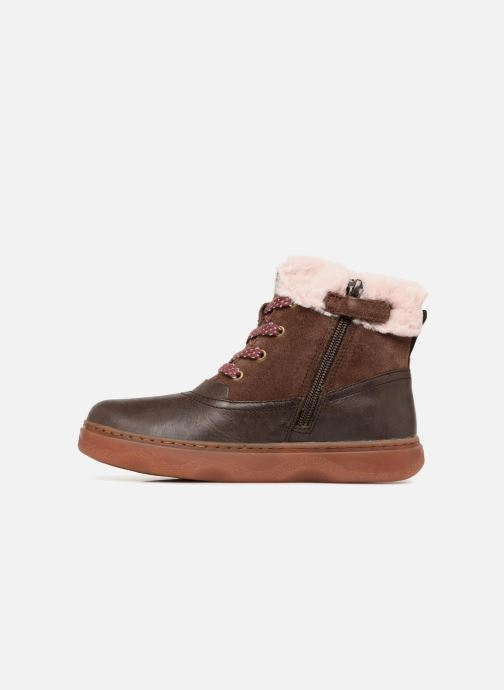 Ankle boots Camper Kido 2 Brown front view