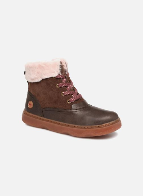 Ankle boots Camper Kido 2 Brown detailed view/ Pair view
