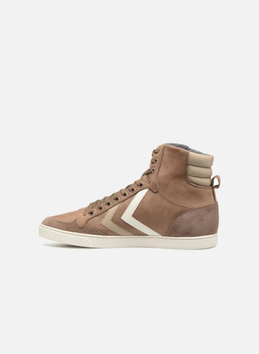 Sneakers Hummel Slimmer Stadil Duo Oiled High Marrone immagine frontale