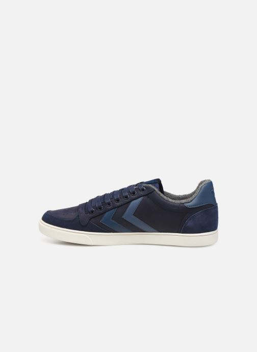Sneakers Hummel Slimmer Stadil Duo Oiled Low Azzurro immagine frontale