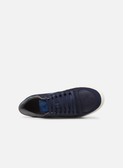 Sneakers Hummel Slimmer Stadil Duo Oiled Low Azzurro immagine sinistra