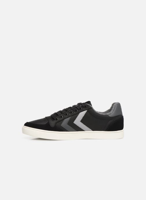 Trainers Hummel Slimmer Stadil Duo Oiled Low Black front view