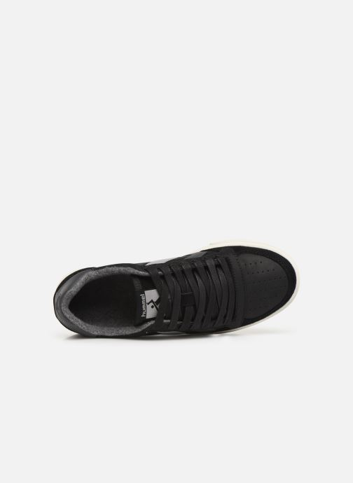 Trainers Hummel Slimmer Stadil Duo Oiled Low Black view from the left