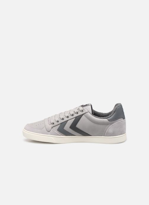 Trainers Hummel Slimmer Stadil Duo Oiled Low Grey front view