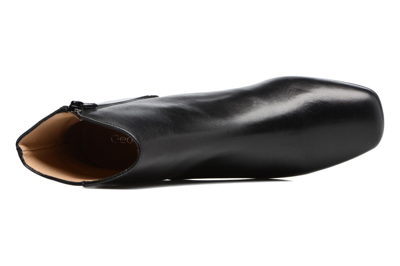 Bottines et boots Georgia Rose Serpenta Noir vue gauche
