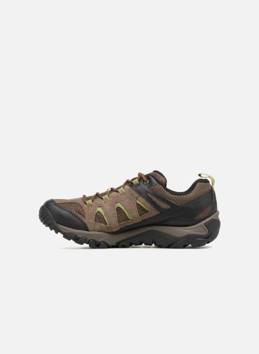 Sport shoes Merrell Outmost Vent Gtx Brown front view