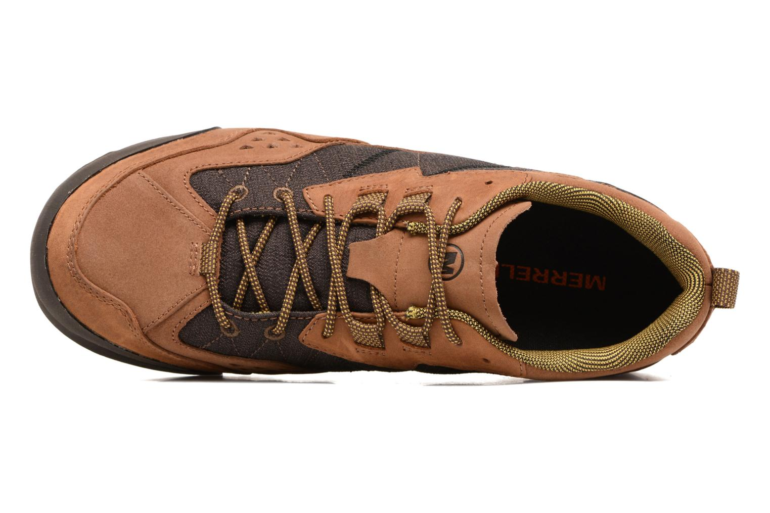 Sport shoes Merrell Burnt Rock Brown view from the left