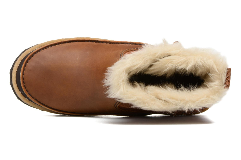 Chaussures de sport Merrell Tremblant Pull On Thrmo Wp Marron vue gauche