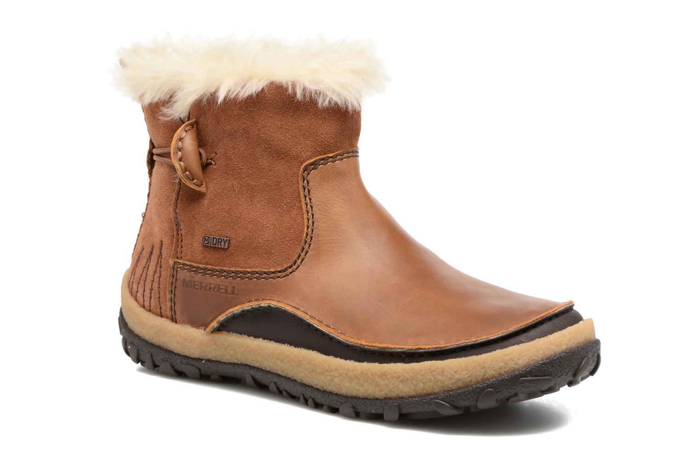 Chaussures de sport Merrell Tremblant Pull On Thrmo Wp Marron vue détail/paire