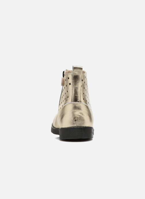 Botines  Mellow Yellow Mncharlyn Oro y bronce vista lateral derecha