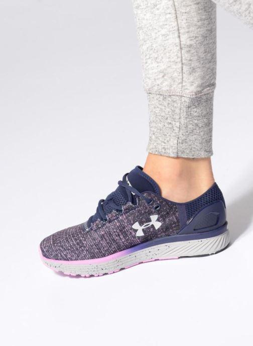 Chaussures de sport Under Armour W Charged Bandit 3 Violet vue bas / vue portée sac