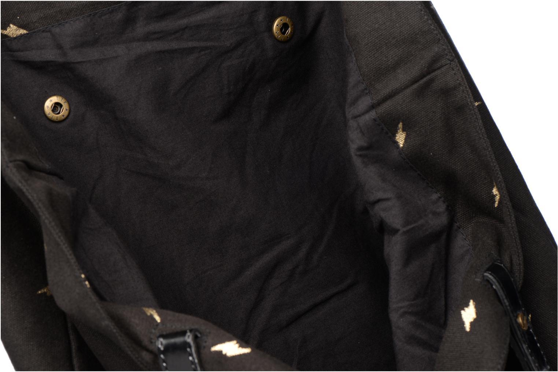 Sacs à main Petite mendigote Cabas Toile Clea Noir vue derrière