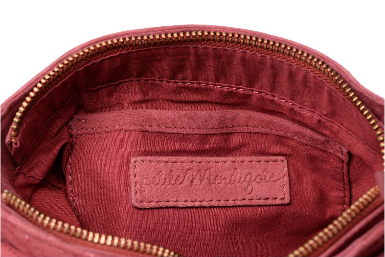 Handtassen Petite mendigote Crossbody Chaine Cuir Messine Rood achterkant