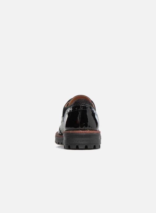 Zapatos con cordones Romagnoli Jade Negro vista lateral derecha