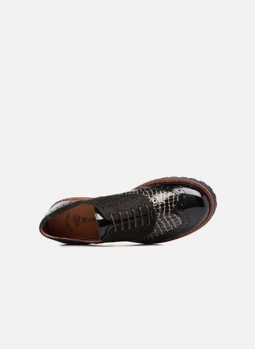 Zapatos con cordones Romagnoli Jade Negro vista lateral izquierda