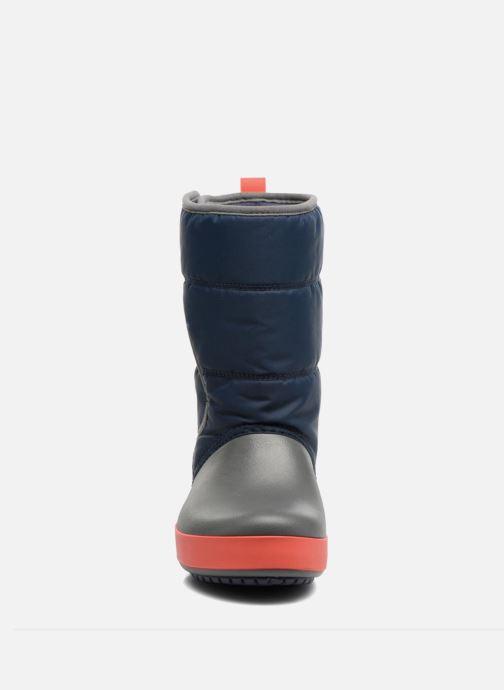 Sportschuhe Crocs LodgPoint Snow Boot K blau schuhe getragen