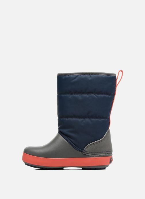 Sportschuhe Crocs LodgPoint Snow Boot K blau ansicht von vorne