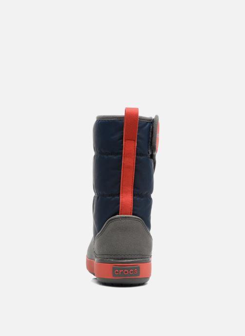 Zapatillas de deporte Crocs LodgPoint Snow Boot K Azul vista lateral derecha