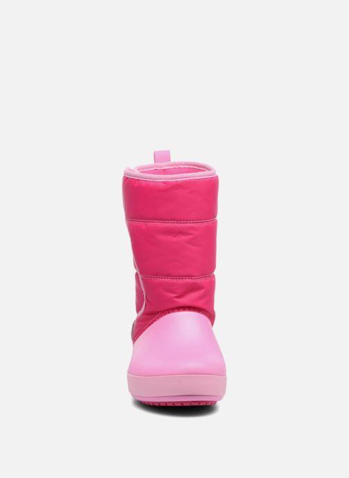 Chaussures de sport Crocs LodgPoint Snow Boot K Rose vue portées chaussures