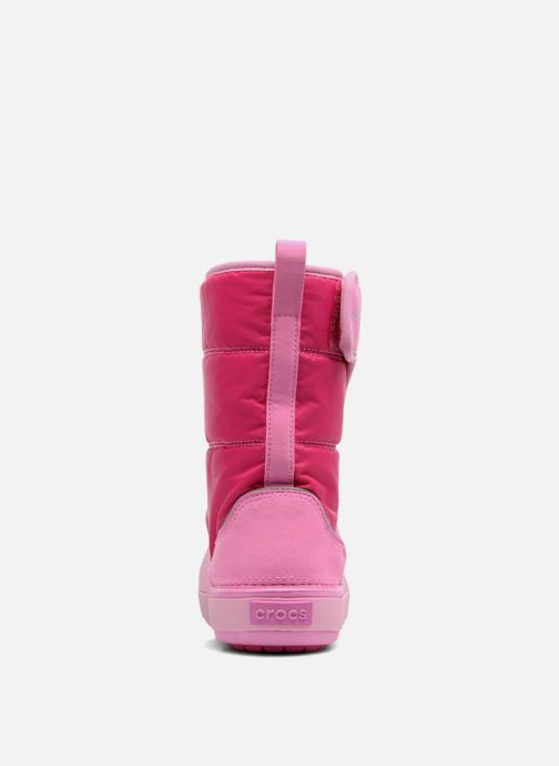 Chaussures de sport Crocs LodgPoint Snow Boot K Rose vue droite
