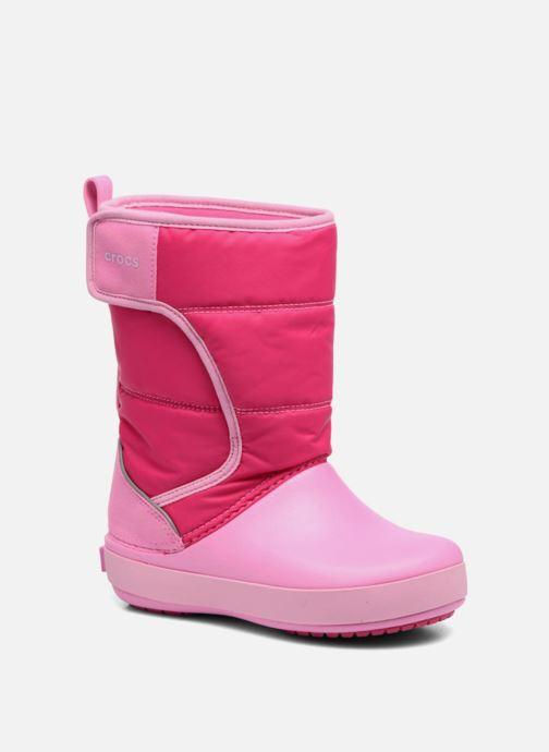 Chaussures de sport Crocs LodgPoint Snow Boot K Rose vue détail/paire