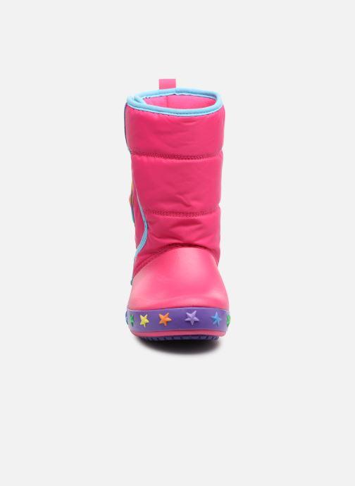 Chaussures de sport Crocs CrocsLodgePt Lights Star Rose vue portées chaussures