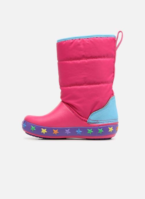 Sportschuhe Crocs CrocsLodgePt Lights Star rosa ansicht von vorne