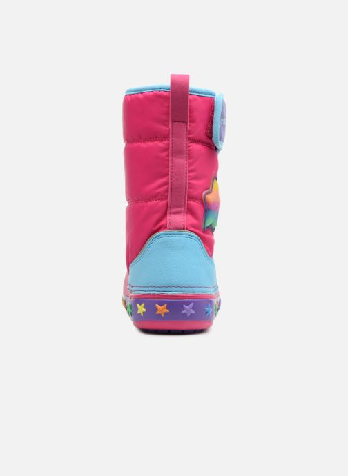 Chaussures de sport Crocs CrocsLodgePt Lights Star Rose vue droite