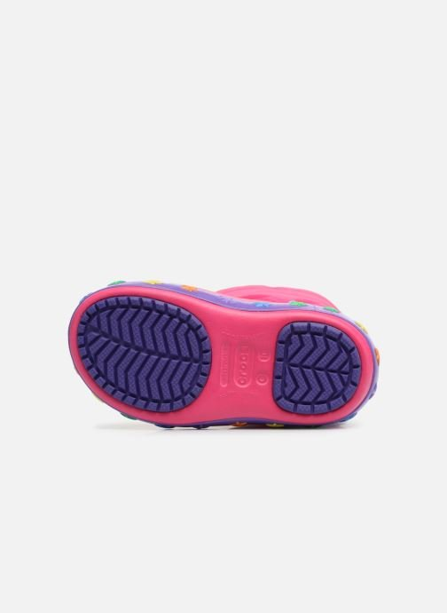 Chaussures de sport Crocs CrocsLodgePt Lights Star Rose vue haut