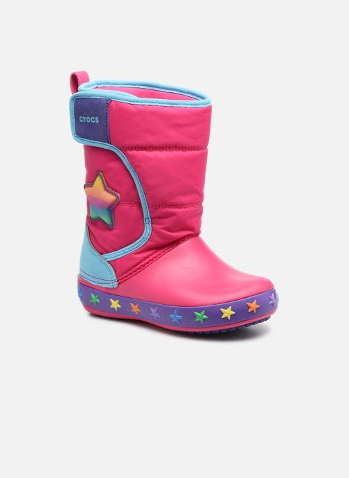 Chaussures de sport Crocs CrocsLodgePt Lights Star Rose vue détail/paire