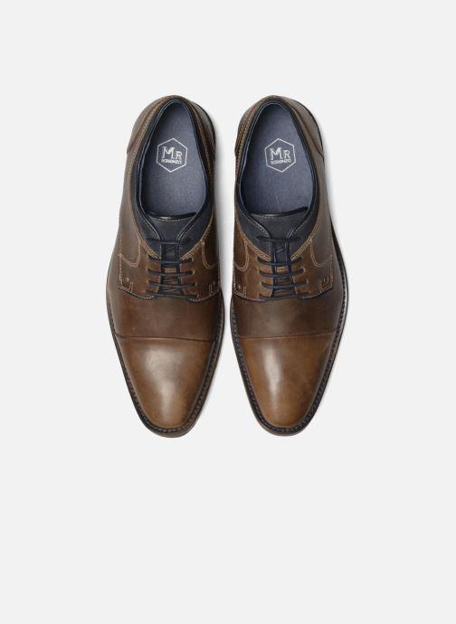 Scarpe con lacci Mr SARENZA Walber Marrone modello indossato