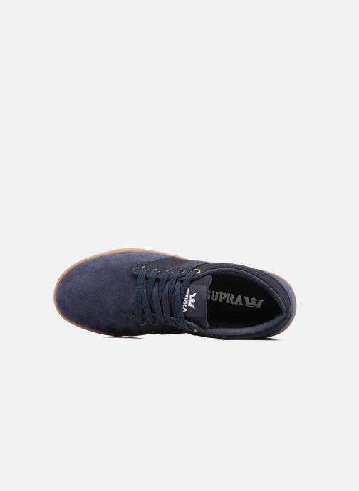 Chaussures de sport Supra Chino Court Bleu vue gauche