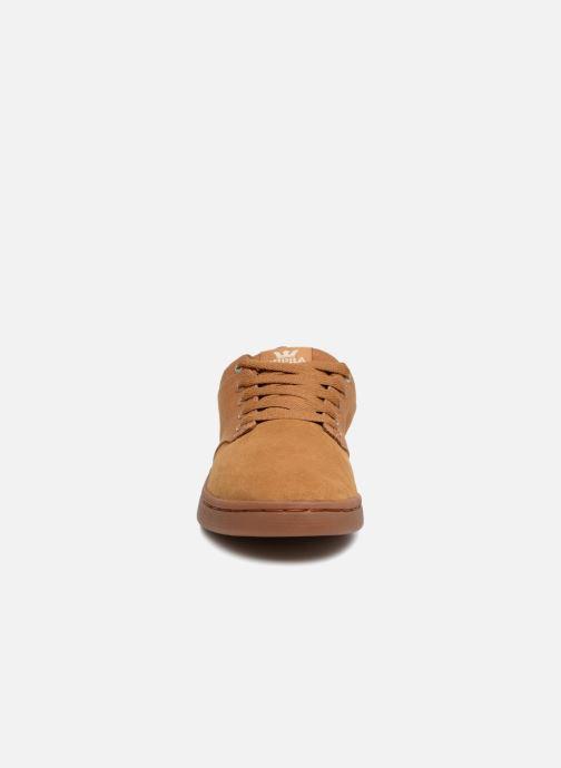 Chaussures de sport Supra Chino Court Marron vue portées chaussures