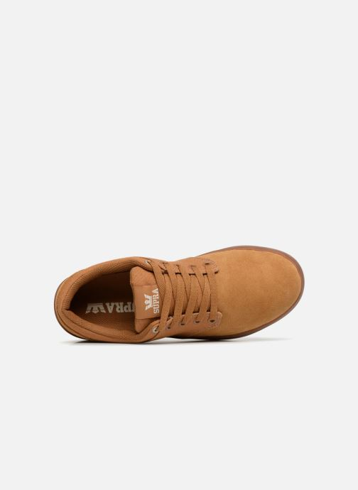 Chaussures de sport Supra Chino Court Marron vue gauche