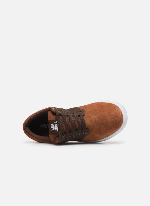 Zapatillas de deporte Supra Chino Court Marrón vista lateral izquierda