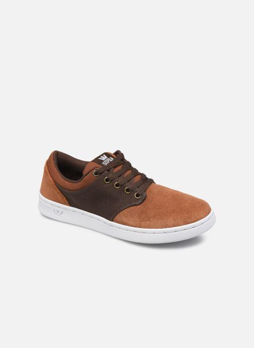 Chaussures de sport Supra Chino Court Marron vue détail/paire