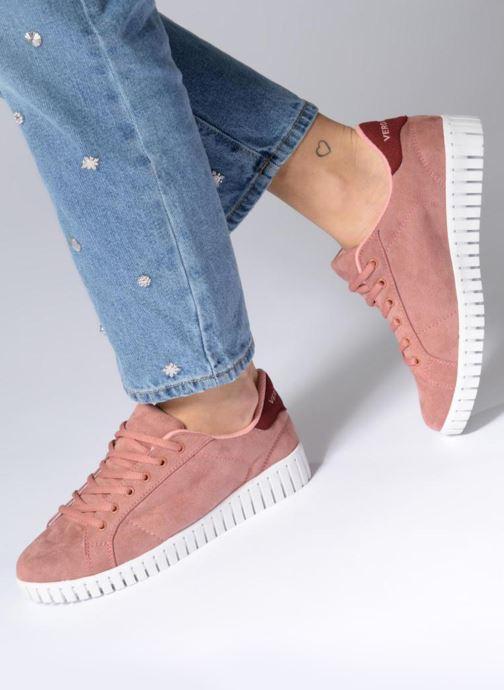 Sneaker Vero Moda Sally Sneaker rosa ansicht von unten / tasche getragen
