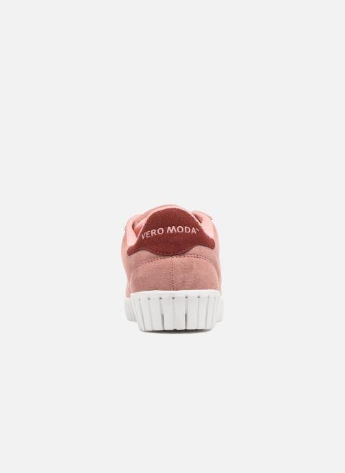 Deportivas Vero Moda Sally Sneaker Rosa vista lateral derecha