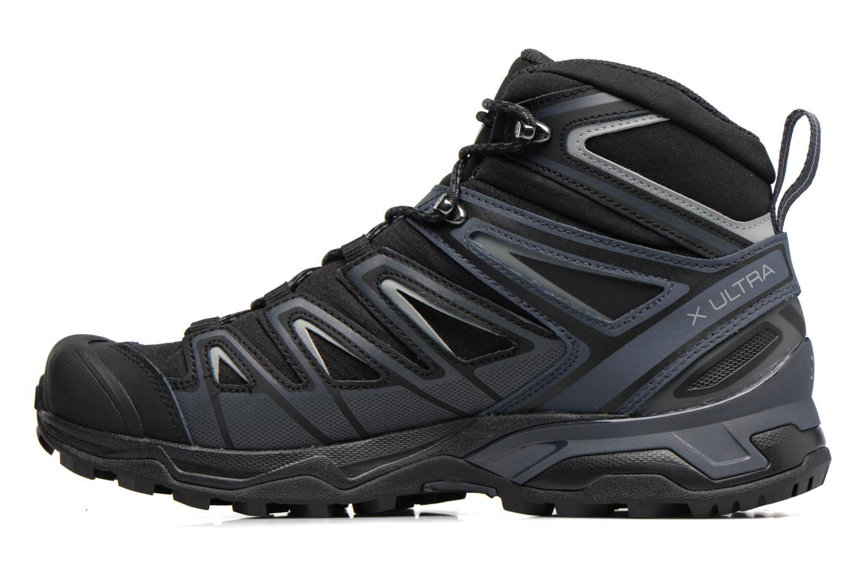 Chaussures de sport Salomon X Ultra 3 Mid Gtx Noir vue face