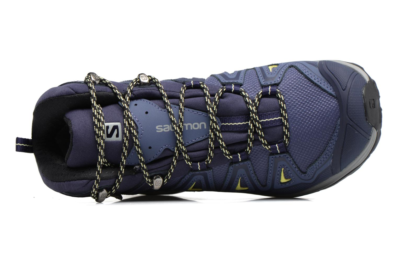 Zapatillas de deporte Salomon X Ultra 3 Mid Gtx W Azul vista lateral izquierda