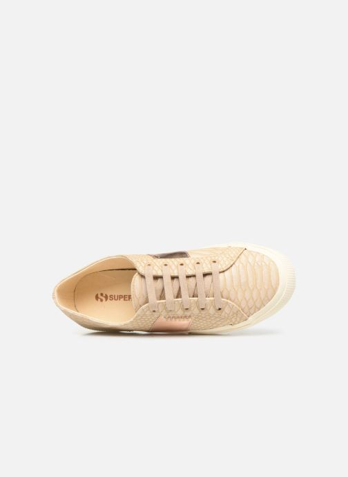 Sneakers Superga 2750 Snake W Beige immagine sinistra