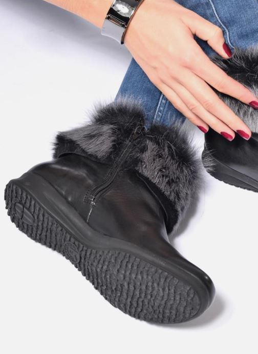 Ankle boots Mephisto Fiducia Winter Black view from underneath / model view