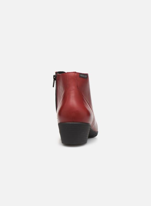 Ankle boots Mephisto Isabella Burgundy view from the right