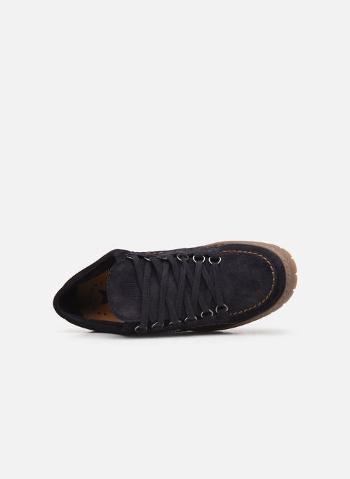 Zapatos con cordones Mephisto Rainbow Azul vista lateral izquierda