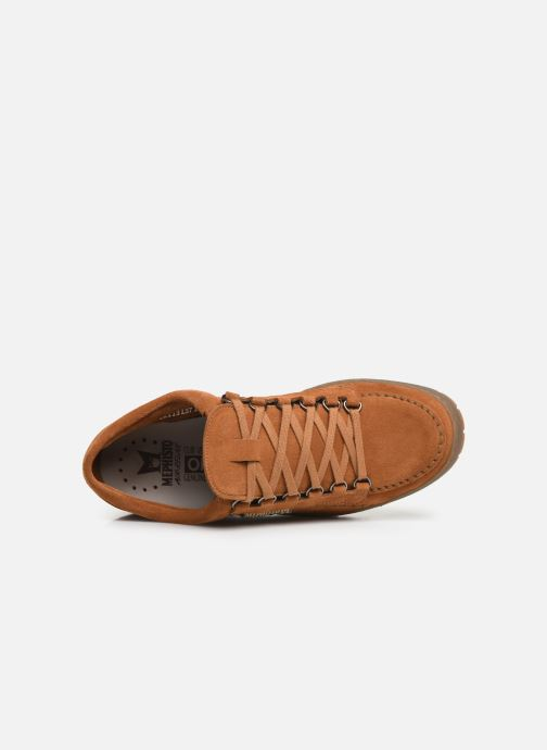 Lace-up shoes Mephisto Rainbow Brown view from the left