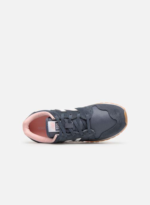 Sneaker New Balance WL520 grau ansicht von links
