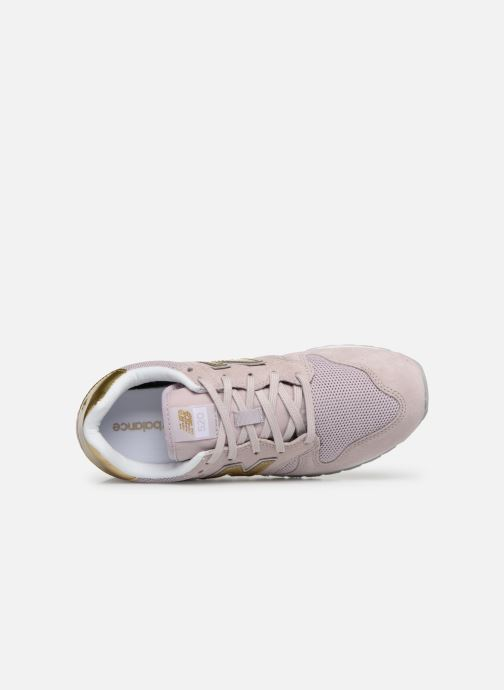Baskets New Balance WL520 Rose vue gauche