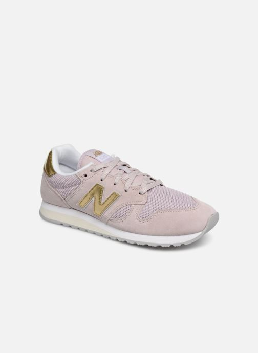 Baskets New Balance WL520 Rose vue détail/paire