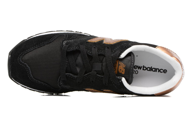 Baskets New Balance WL520 Noir vue gauche